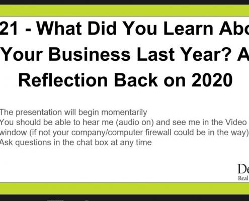 A reflection back on 2020